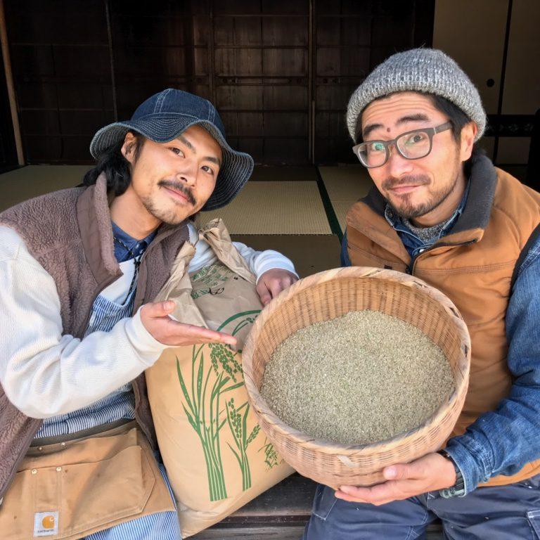 mumokuteki cafeでは、京都美山のmumokuteki farmで、栽培期間中無農薬無化学肥料で育てたお米を使っています!
