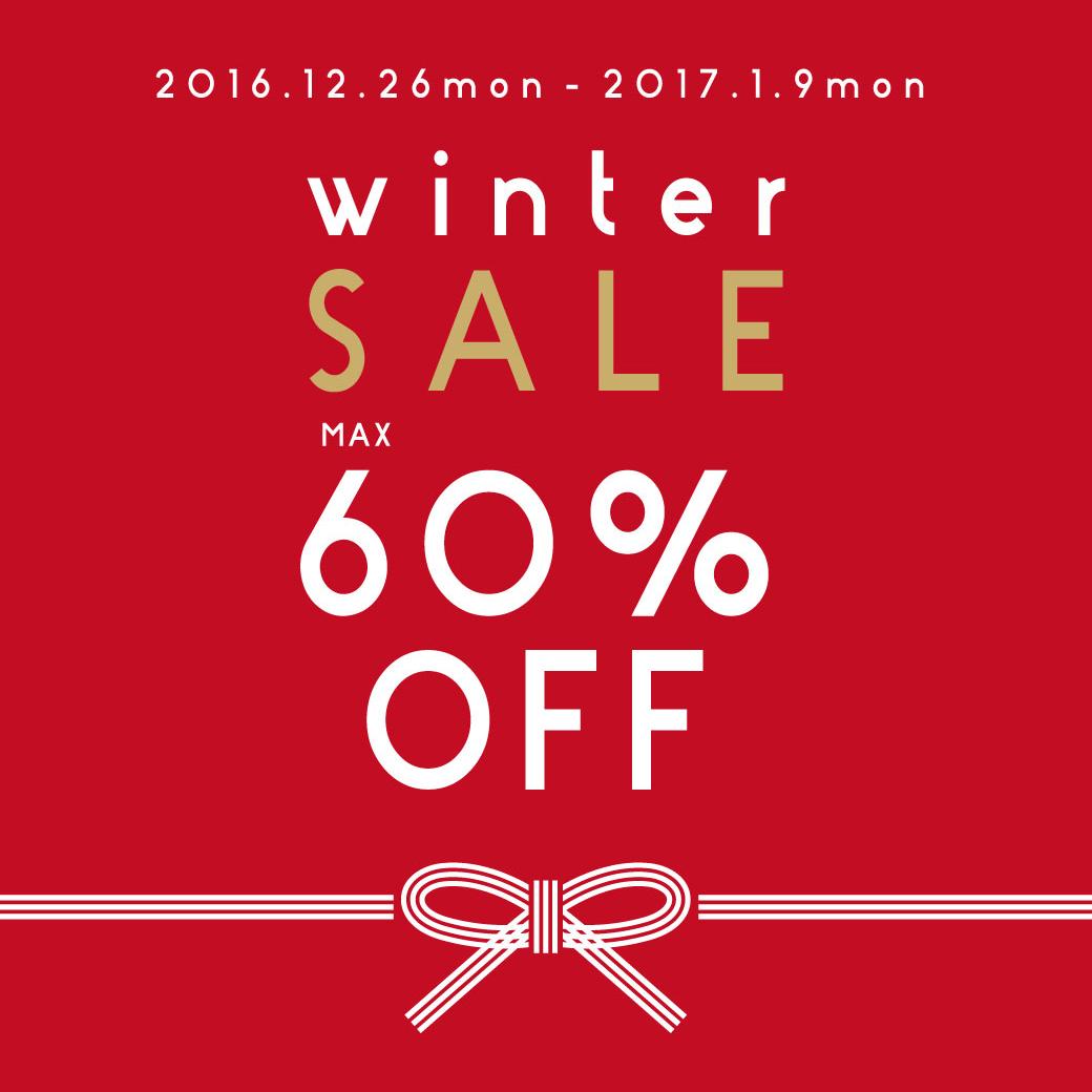 winter SALE max 60%OFF!