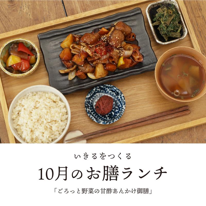 [10月]いきるをつくる御膳ランチ「ごろっと野菜の甘酢あんかけ御膳」