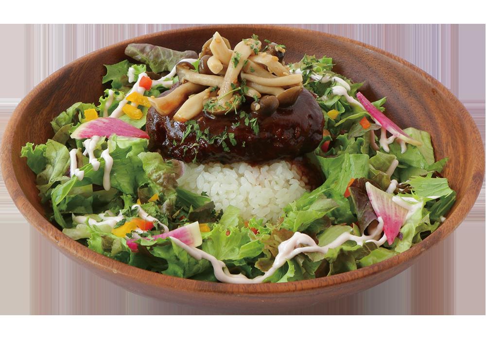 豆腐ハンバーグロコモコ